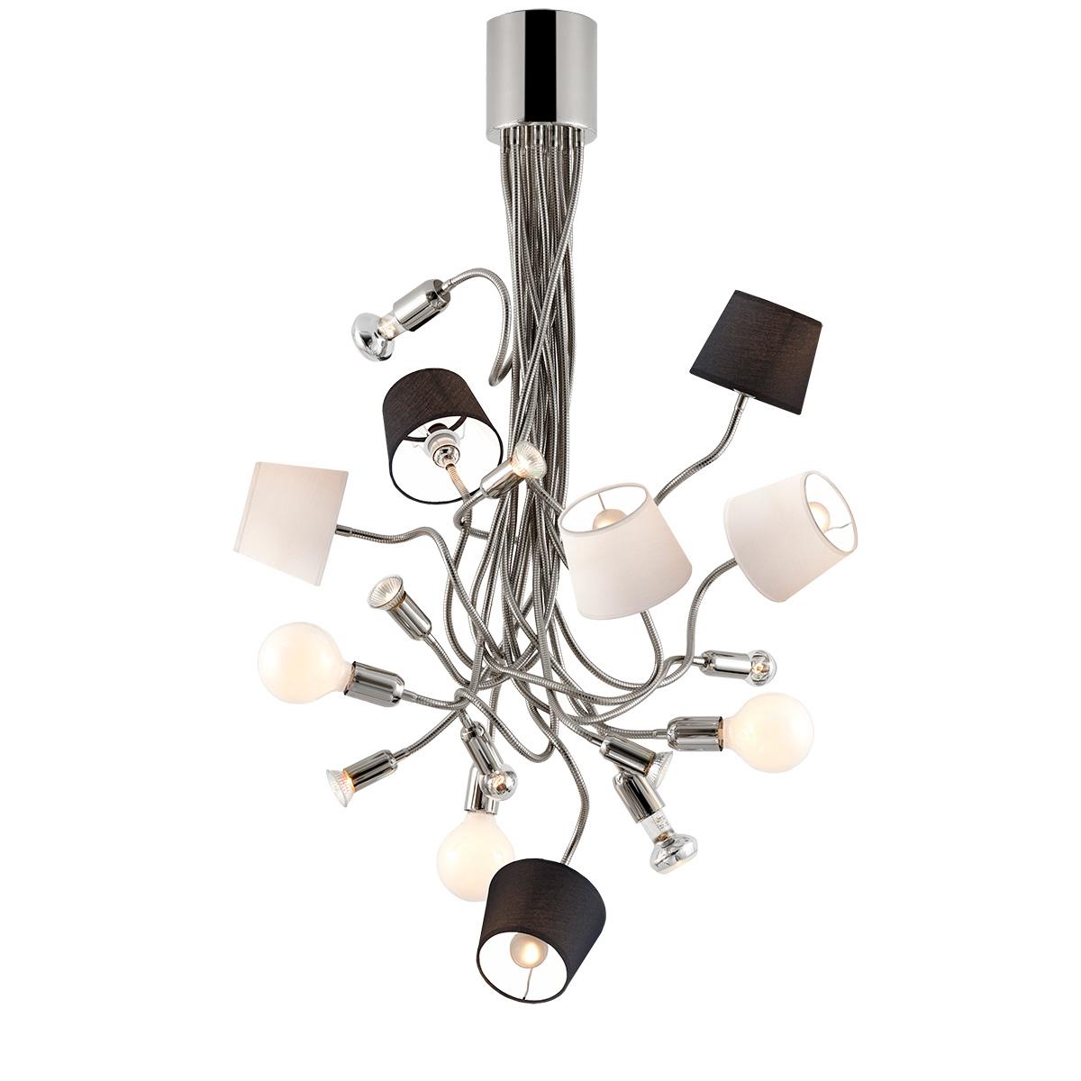 Μοντέρνο 17φωτο φωτιστικό με καπέλα FLEX modern 17-bulb chandelier with shades