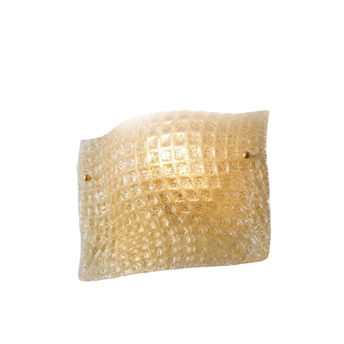 Κλασική απλίκα μελί κρύσταλλο Μουράνο ΜΑΝΤΗΛΙ classic amber Murano crystal wall lamp