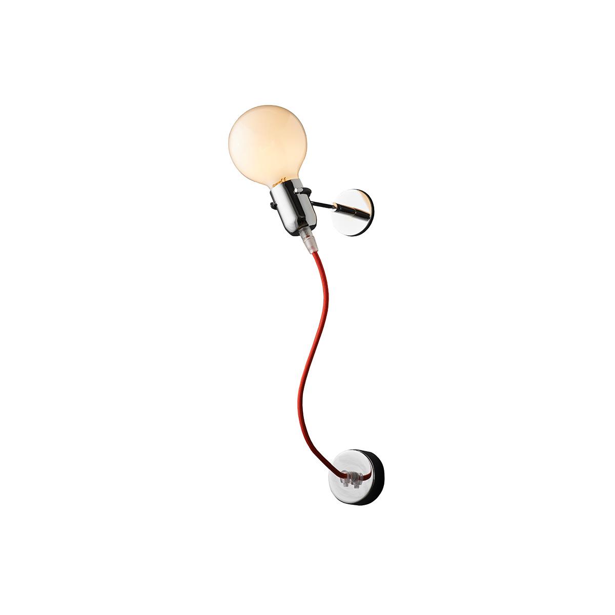 Μοντέρνα απλίκα με κόκκινο καλώδιο ΚΑΛΩΔΙΑ modern red wall lamp