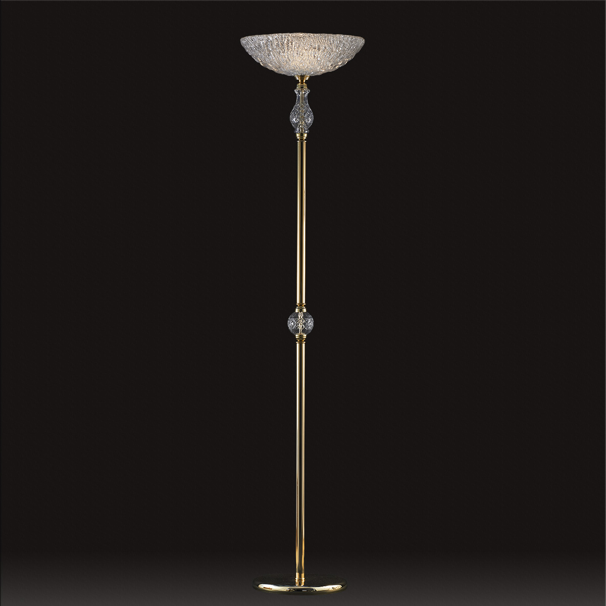 Κλασικό φωτιστικό δαπέδου με κρύσταλλα ΒΕΡΓΙΝΑ classic floor lamp with crystal accents