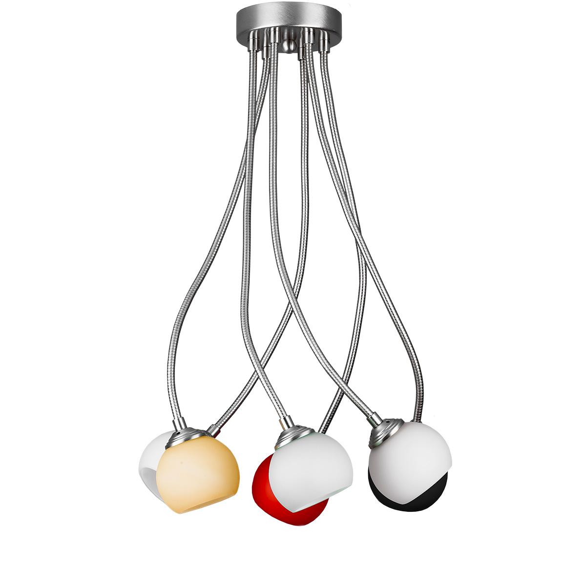 Μοντέρνο 6φωτο φωτιστικό FLEX COLOUR flexible modern 6-bulb chandelier