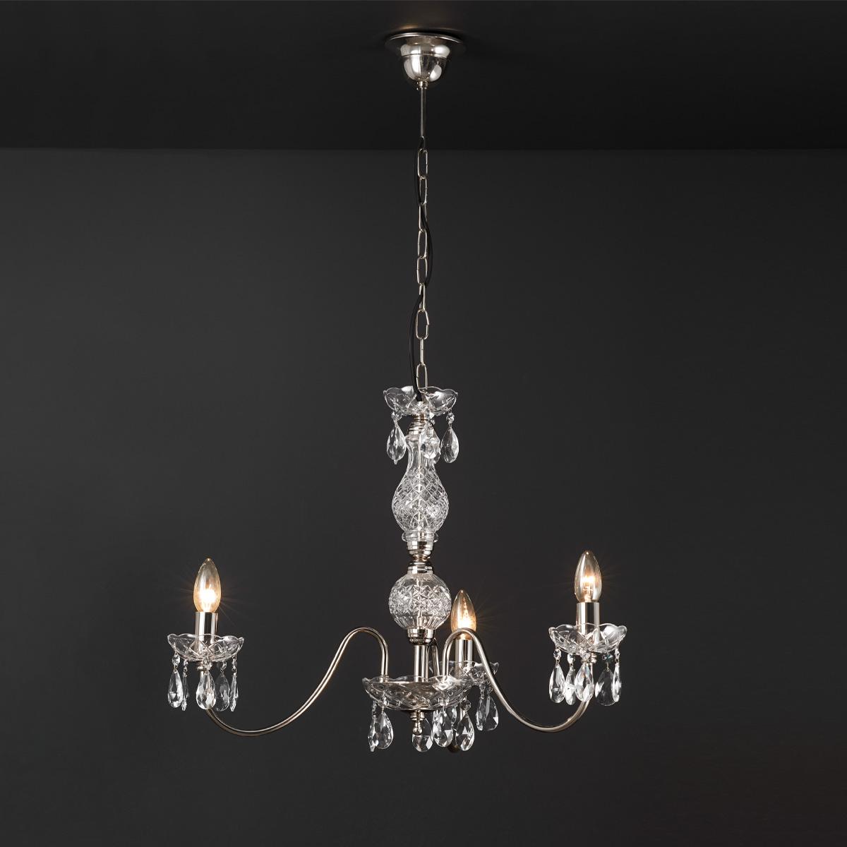 Κρεμαστό φωτιστικό με κρύσταλλα ΒΕΡΓΙΝΑ chandelier with crystal accents