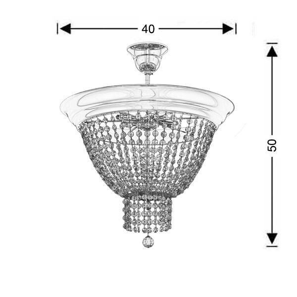 Classic ceiling lamp | PHAEDRA - Drawing - Classic ceiling lamp | PHAEDRA