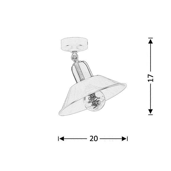 Φωτιστικό οροφής σπαστό βεραμάν | ΜΗΛΟΣ - Σχέδιο - Φωτιστικό οροφής σπαστό βεραμάν | ΜΗΛΟΣ