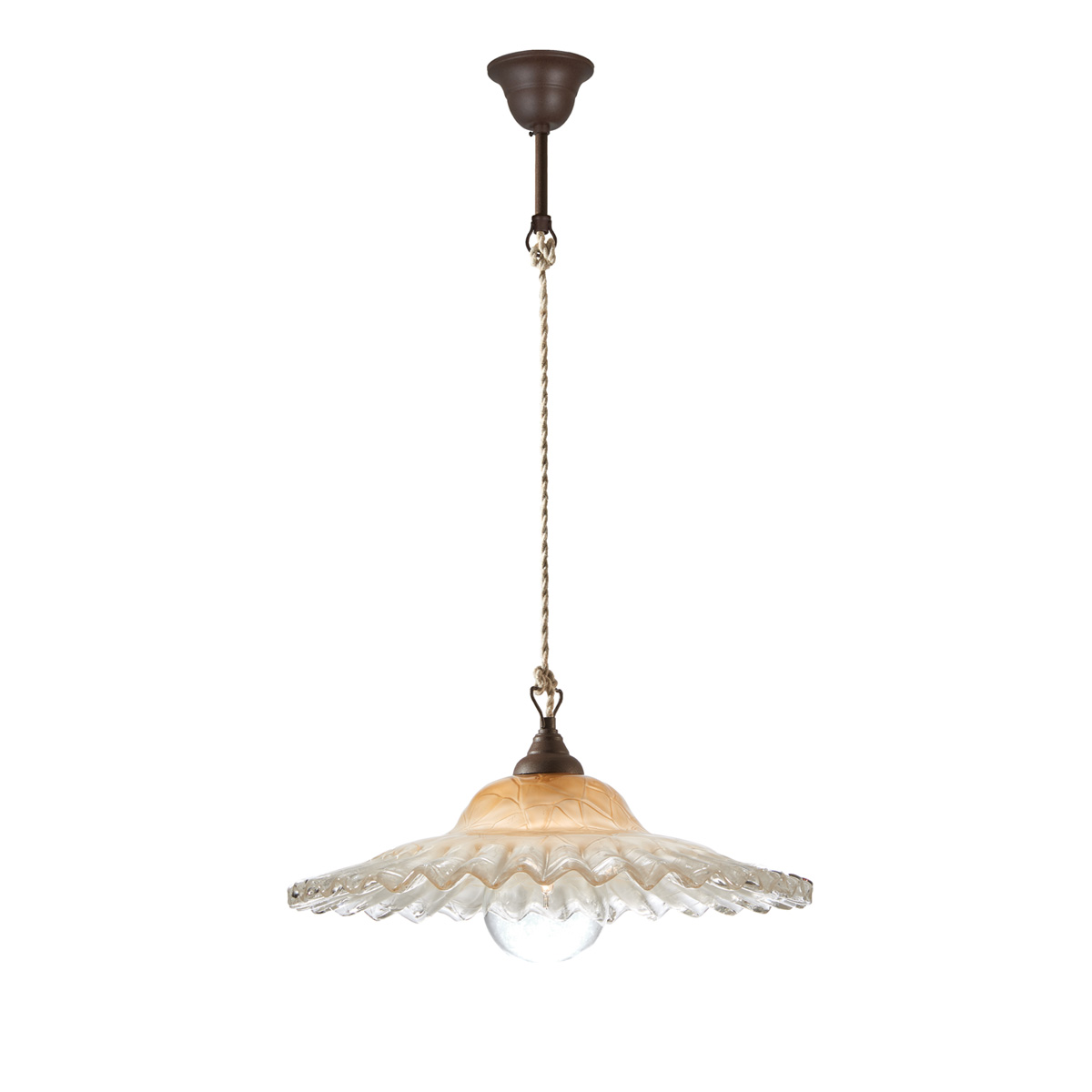 Παραδοσιακό κρεμαστό φωτιστικό ΣΥΡΟΣ rustic suspension lamp