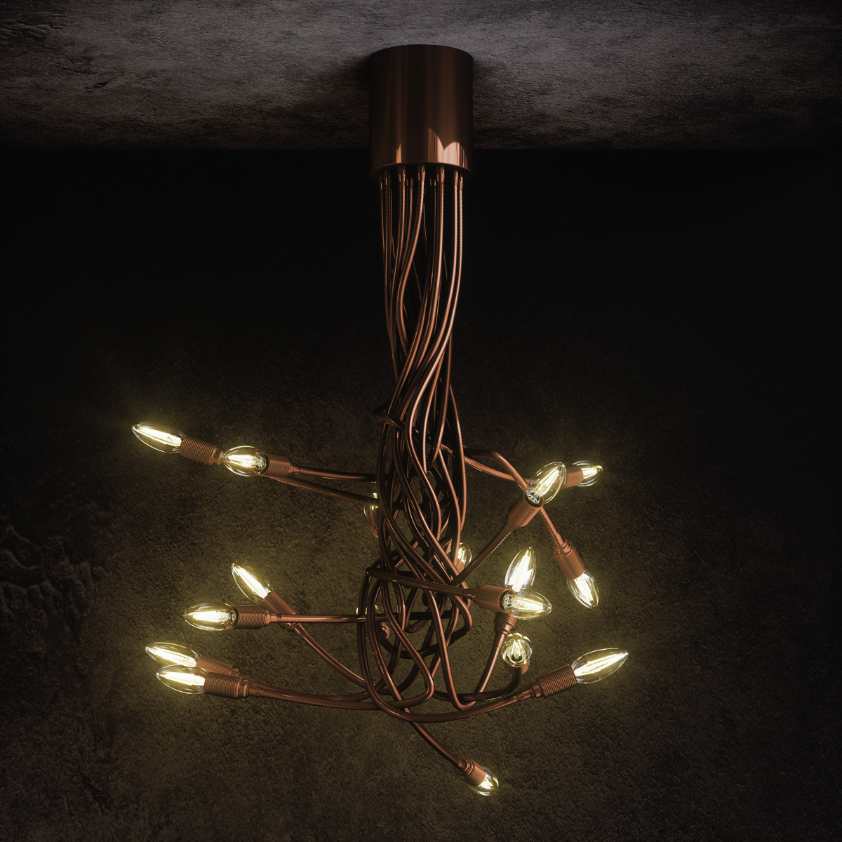 Πολύφωτο με εύκαμπτους βραχίονες ΜΕΔΟΥΣΑ chandelier with flexible arms