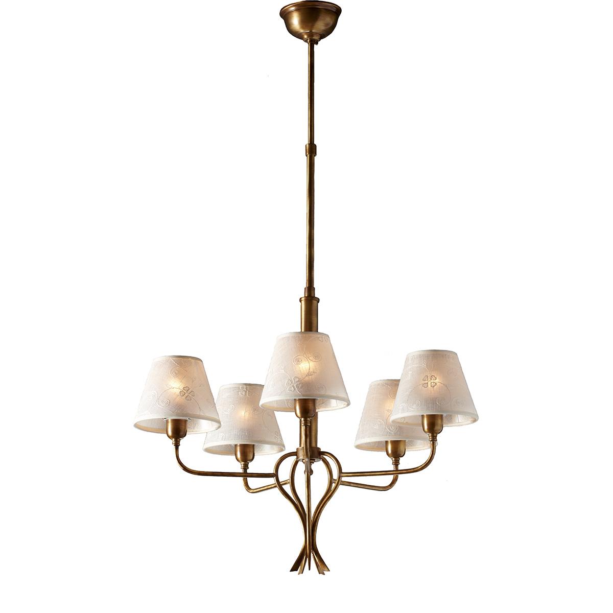 Classic 5 Bulb Chandelier With Shades Elati Mavros Diagram Elati5003