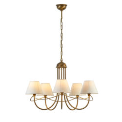 Κλασικό 5φωτο φωτιστικό με καπέλα ΓΥΘΕΙΟ classic 5-bulb chandelier with shades