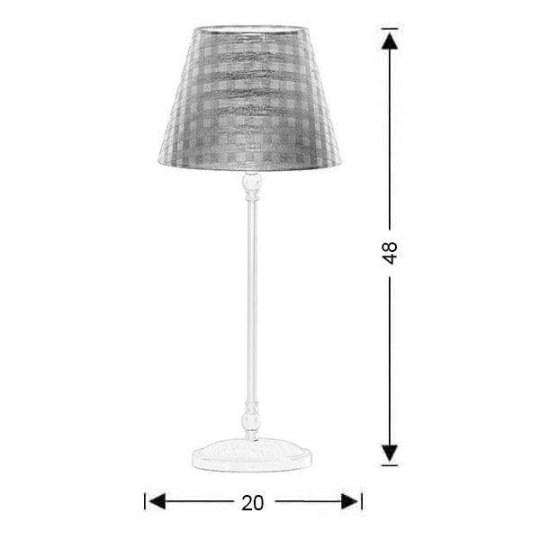 Επιτραπέζιο φωτιστικό σιέλ καρό καπέλο | BIANCO-1 - Σχέδιο - Επιτραπέζιο φωτιστικό σιέλ καρό καπέλο | BIANCO-1