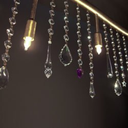 Κλασικό 5φωτο φωτιστικό ράγα με κρύσταλλα ΔΙΟΝ classic chandelier with crystal accents
