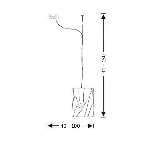 Μοντέρνο κρεμαστό φωτιστικό | COLORE - Σχέδιο - Μοντέρνο κρεμαστό φωτιστικό | COLORE