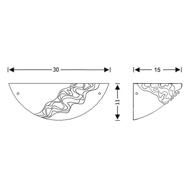 Κλασική απλίκα από κρύσταλλο Μουράνο | BELLA - Σχέδιο - Κλασική απλίκα από κρύσταλλο Μουράνο | BELLA