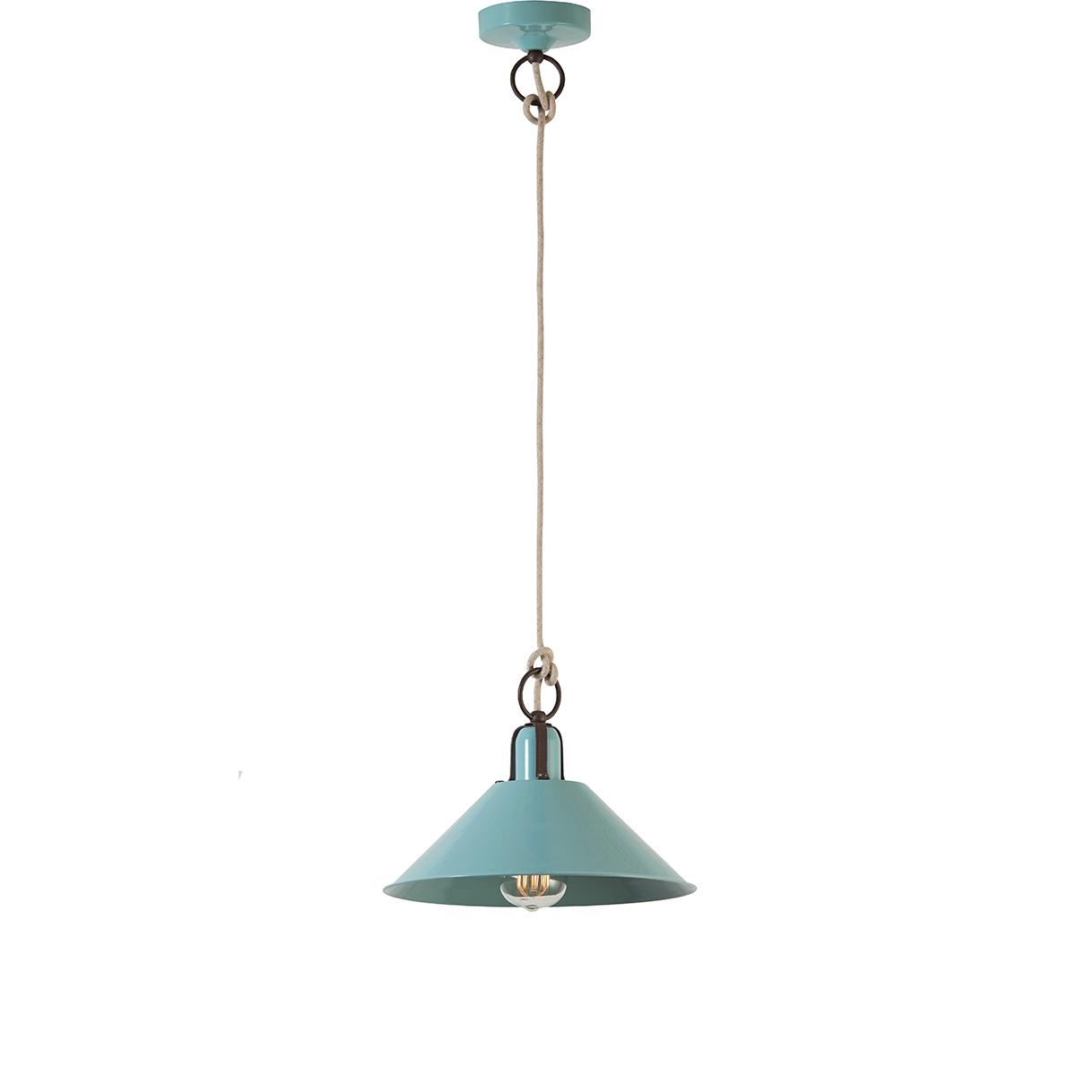 Ρετρό κρεμαστό φωτιστικό βεραμάν ΜΗΛΟΣ retro pendant lamp pastel turquoise