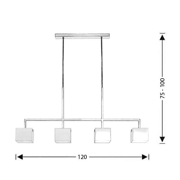 Μοντέρνο φωτιστικό τραπεζαρίας | ΚΥΒΟΙ - Σχέδιο - Μοντέρνο φωτιστικό τραπεζαρίας | ΚΥΒΟΙ