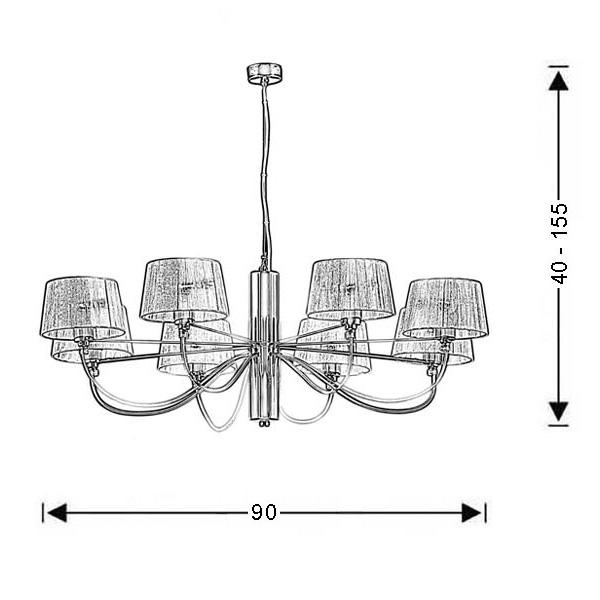 Χρώμιο μοντέρνο 8φωτο φωτιστικό | ΟΡΓΑΝΤΖΑ - Σχέδιο - Χρώμιο μοντέρνο 8φωτο φωτιστικό | ΟΡΓΑΝΤΖΑ