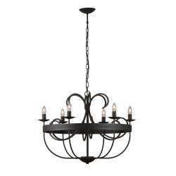 Σιδερένιο μασίφ φωτιστικό με 6 λάμπες ΧΙΟΣ solid iron chandelier with 6 light bulbs