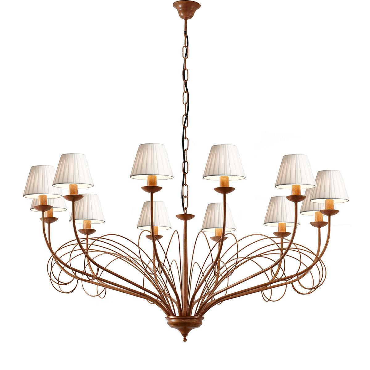 Παραδοσιακό φωτιστικό με καπέλα ΣΑΝΤΟΡΙΝΗ rustic chandelier with shades