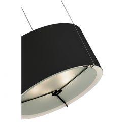 Μοντέρνο μαύρο μονόφωτο Μουράνο ΚΥΛΙΝΔΡΟΙ modern black Murano suspension lamp