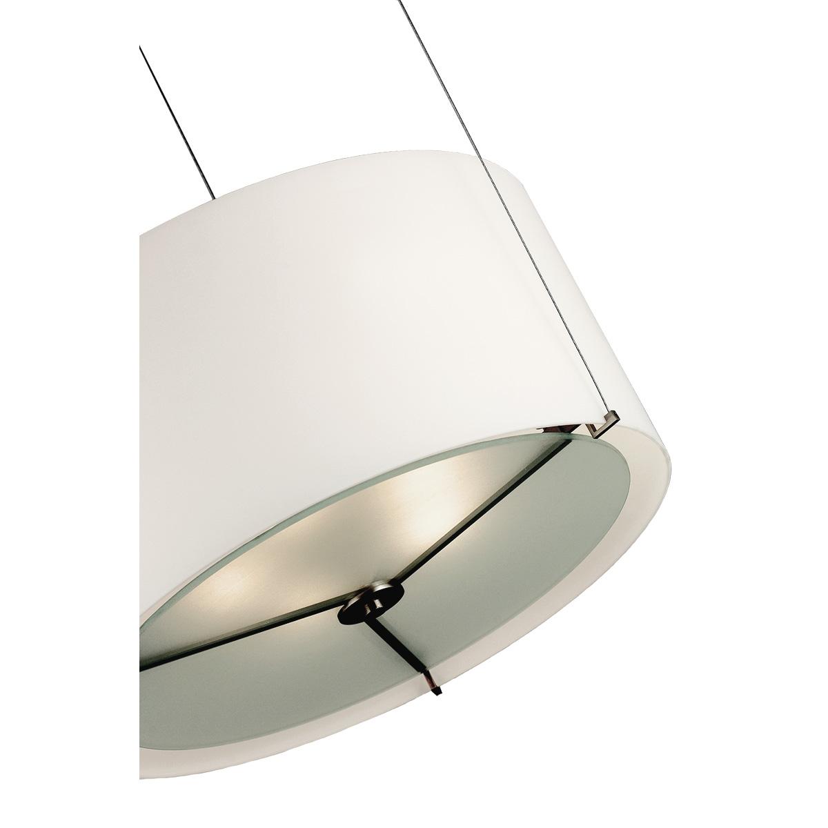 Μοντέρνο λευκό μονόφωτο Μουράνο ΚΥΛΙΝΔΡΟΙ modern white Murano suspension lamp
