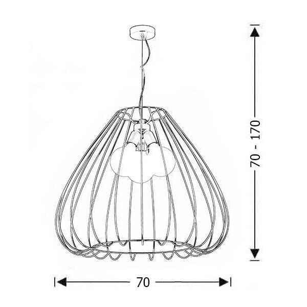 Κρεμαστό φωτιστικό κλουβί | CELLI - Σχέδιο - Κρεμαστό φωτιστικό κλουβί | CELLI