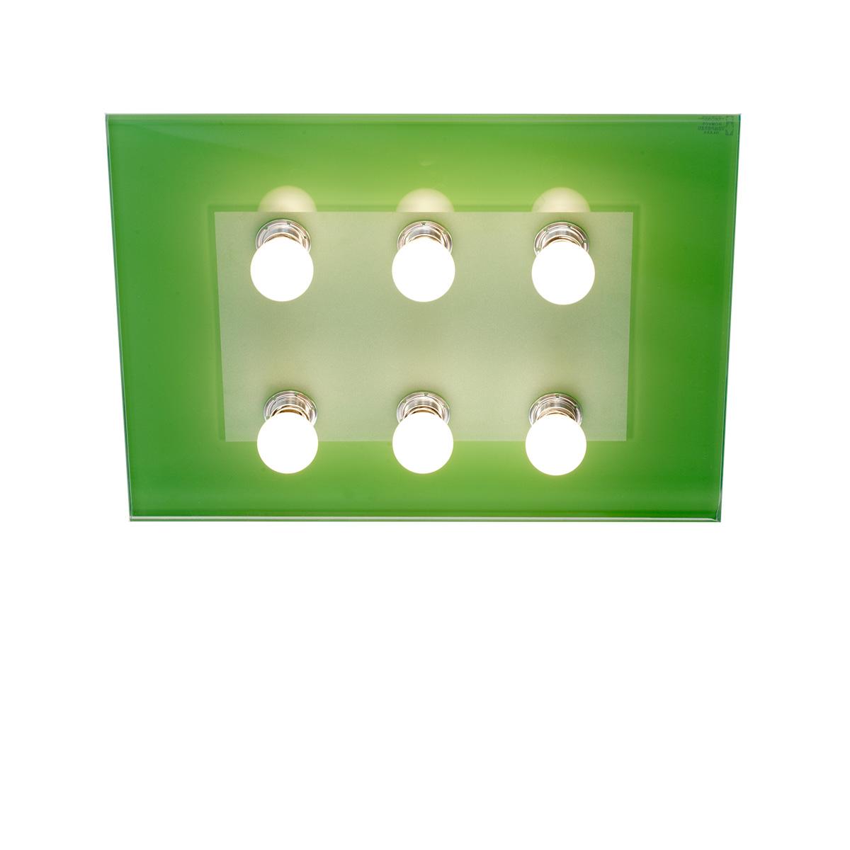 Μοντέρνο 6φωτο φωτιστικό οροφής VETRO modern 6-bulb ceiling lamp