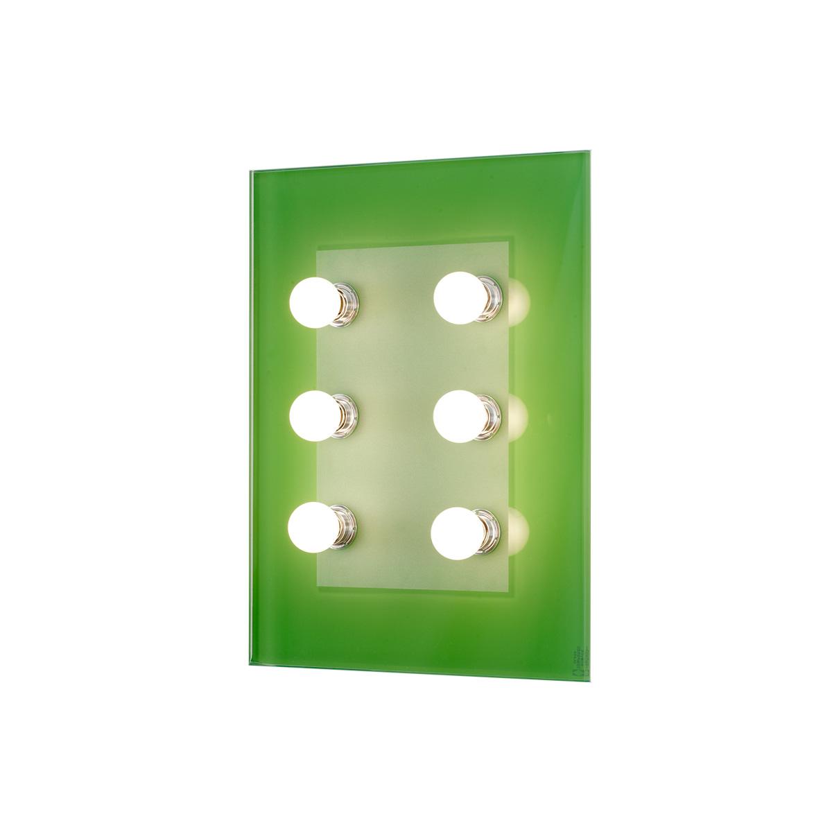 Μοντέρνα 6φωτη απλίκα VETRO modern 6-bulb wall lamp