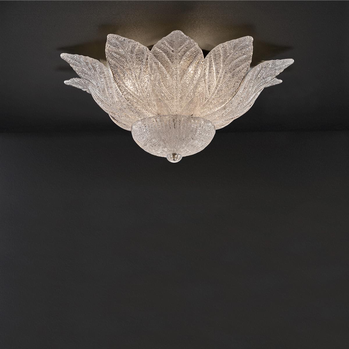 Φωτιστικό οροφής με κρυστάλλινα φύλλα Μουράνο STELLA classic ceiling lamp with crystal leaves