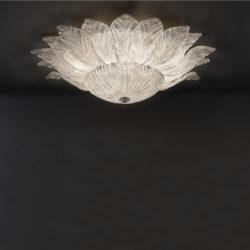 Φωτιστικό οροφής με κρυστάλλινα φύλλα STELLA ceiling lamp with Murano crystals