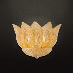 Κλασική απλίκα με κρυστάλλινα φύλλα STELLA classic wall lamp with Murano crystal leaves