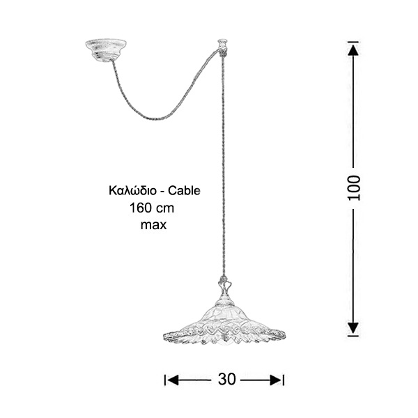 Neoclassical light fixture   SYROS - Drawing - Neoclassical light fixture   SYROS