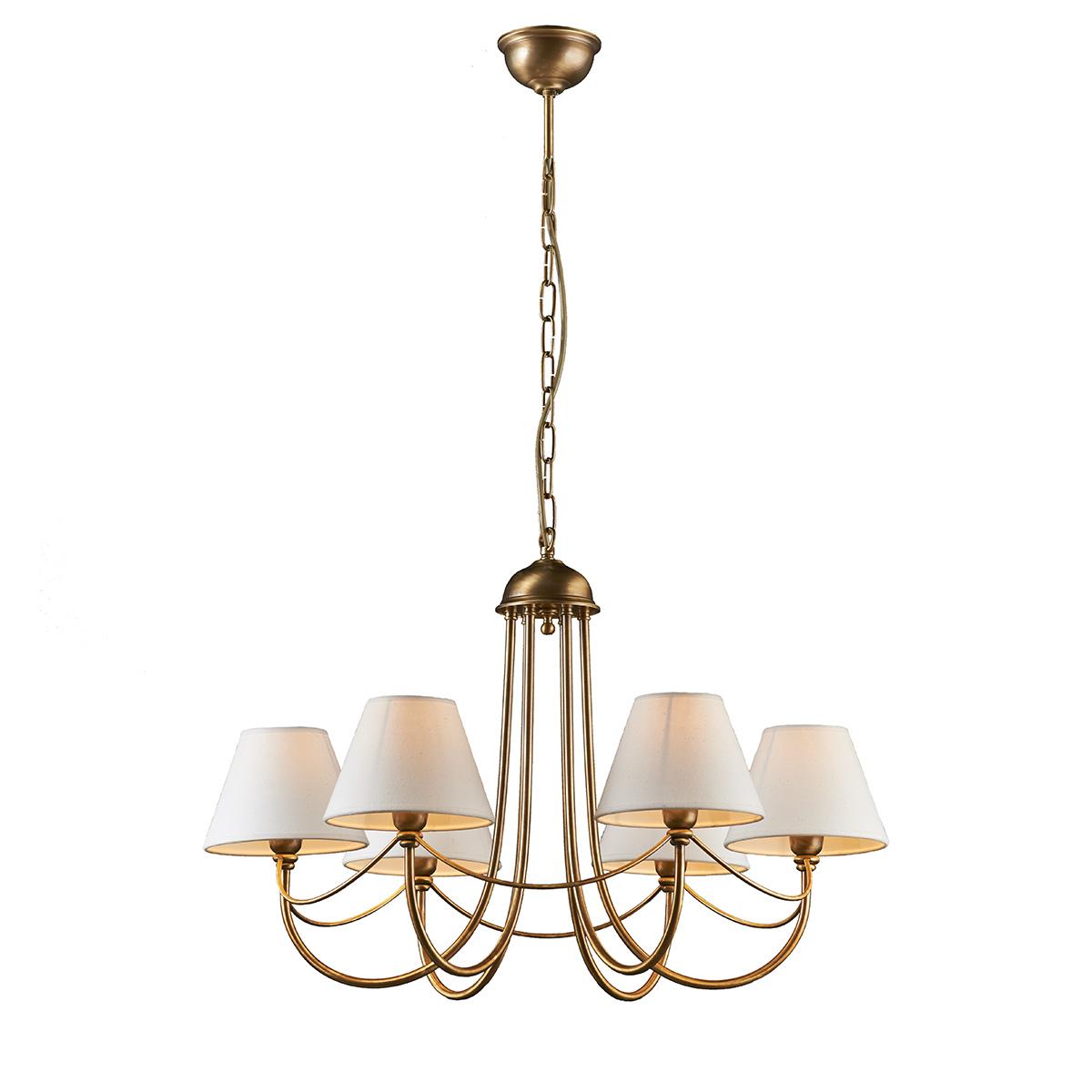 6φωτο φωτιστικό με καπέλα ΓΥΘΕΙΟ 6-bulb chandelier with shades