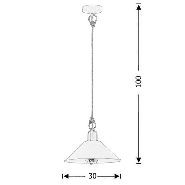 Ρετρό κρεμαστό φωτιστικό λευκή πατίνα | ΜΗΛΟΣ - Σχέδιο - Ρετρό κρεμαστό φωτιστικό λευκή πατίνα | ΜΗΛΟΣ