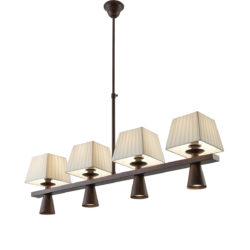 Οκτάφωτο φωτιστικό ρουστίκ SMART-CAFE rustic 8-bulb chandelier