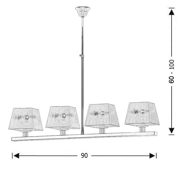 Μοντέρνο φωτιστικό ράγα με λευκά καπέλα | SMART-SILVER - Σχέδιο - Μοντέρνο φωτιστικό ράγα με λευκά καπέλα | SMART-SILVER