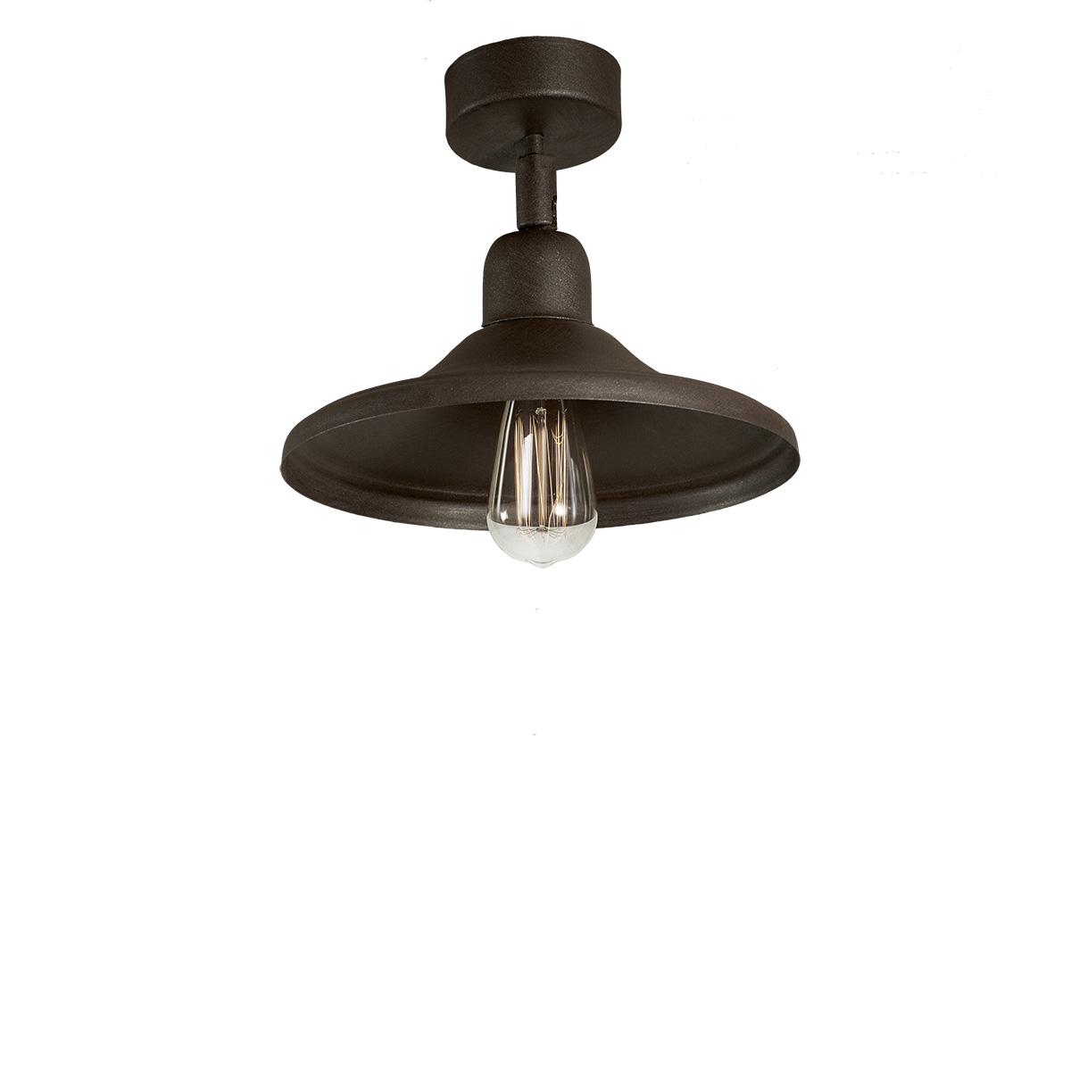 Φωτιστικό οροφής σπαστό σε πατίνα γραφίτη ΙΟΣ graphite patinated ceiling lamp