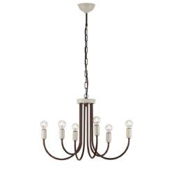 Φωτιστικό πολύφωτο ΔΗΛΟΣ rustic chandelier