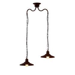 Παραδοσιακό φωτιστικό σε καφέ πατίνα ΙΟΣ brown patinated retro chandelier