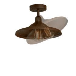 Ρουστίκ φωτιστικό οροφής σε καφέ πατίνα ΙΟΣ brown patinated rustic ceiling lamp