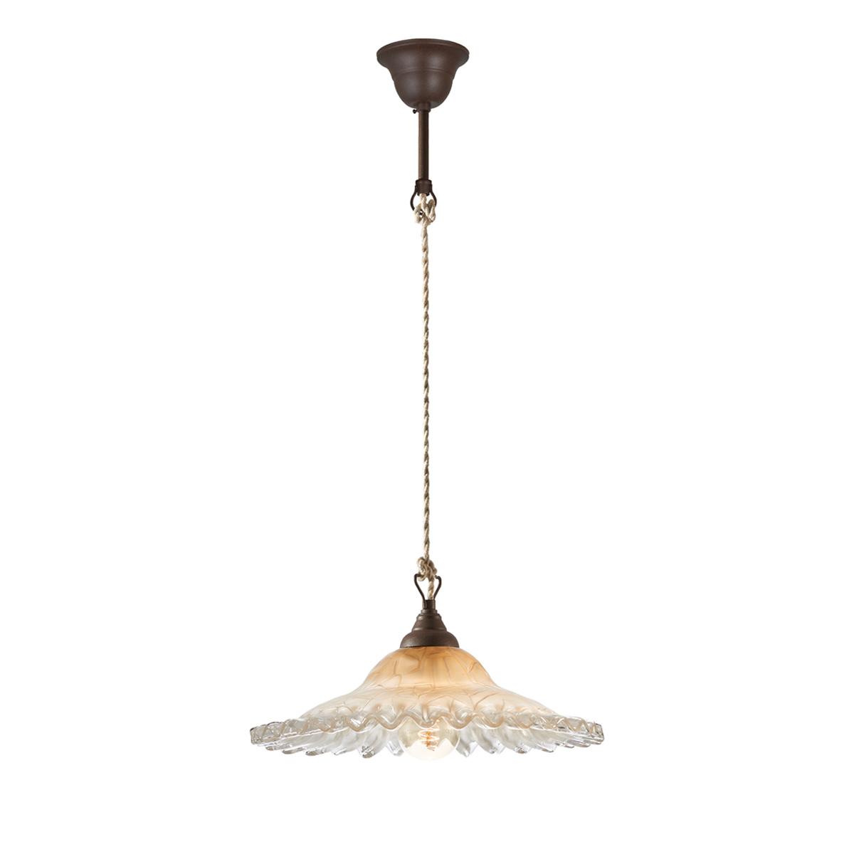 Παραδοσιακό φωτιστικό ΣΥΡΟΣ amber suspension lamp