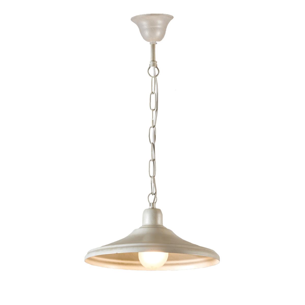 Ρουστίκ κρεμαστό φωτιστικό σε λευκή πατίνα ΙΟΣ white patinated rustic suspension lamp