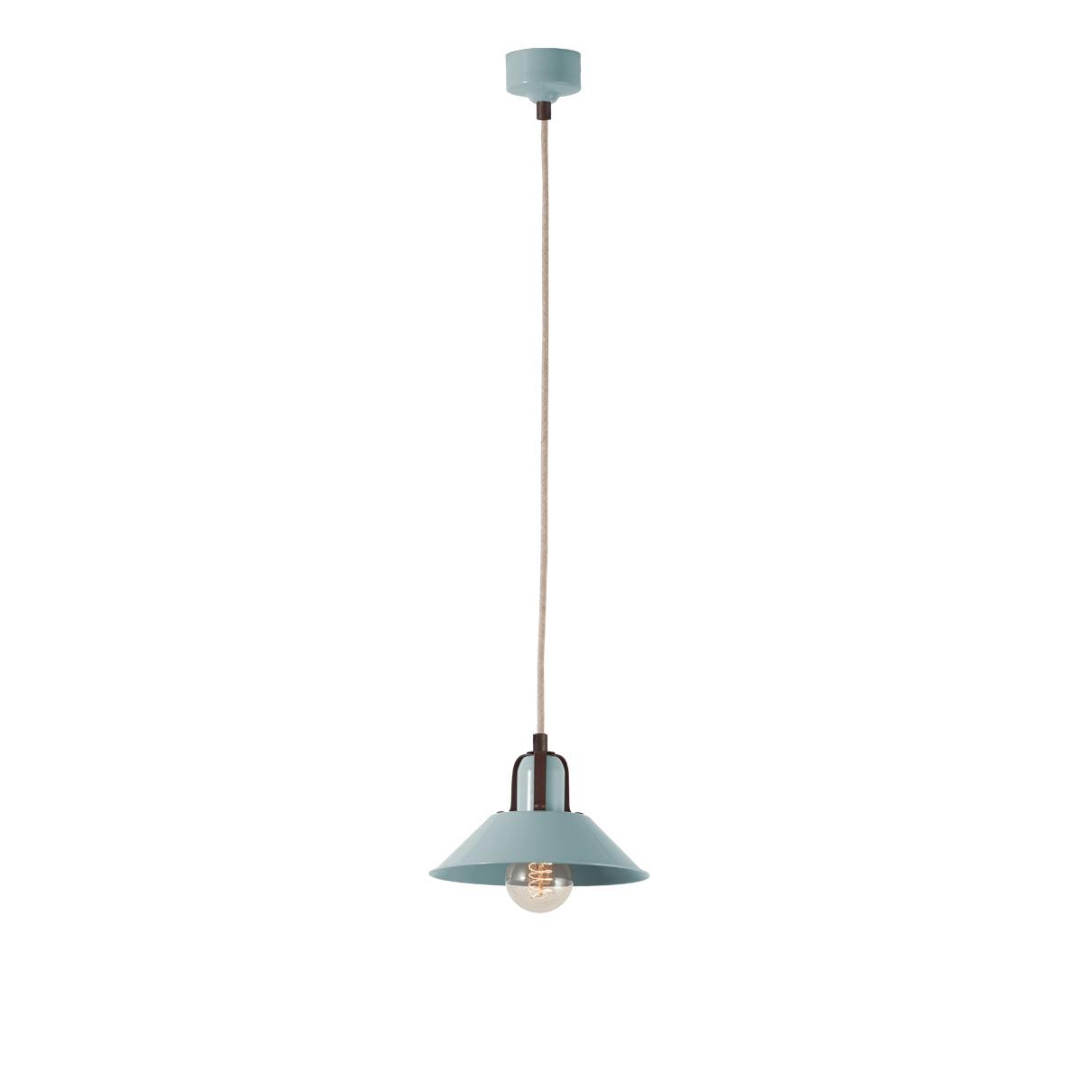 Χειροποίητο φωτιστικό βεραμάν ΜΗΛΟΣ pastel turquoise handmade pendant lamp