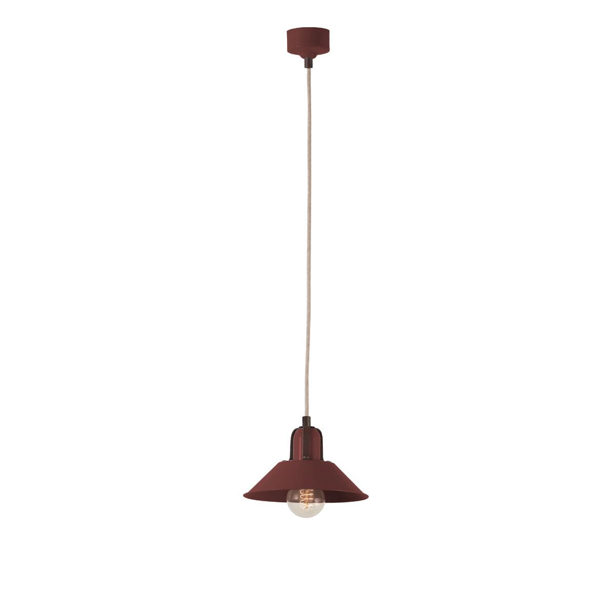 Χειροποίητο φωτιστικό μπορντό ΜΗΛΟΣ bordeaux handmade pendant lamp