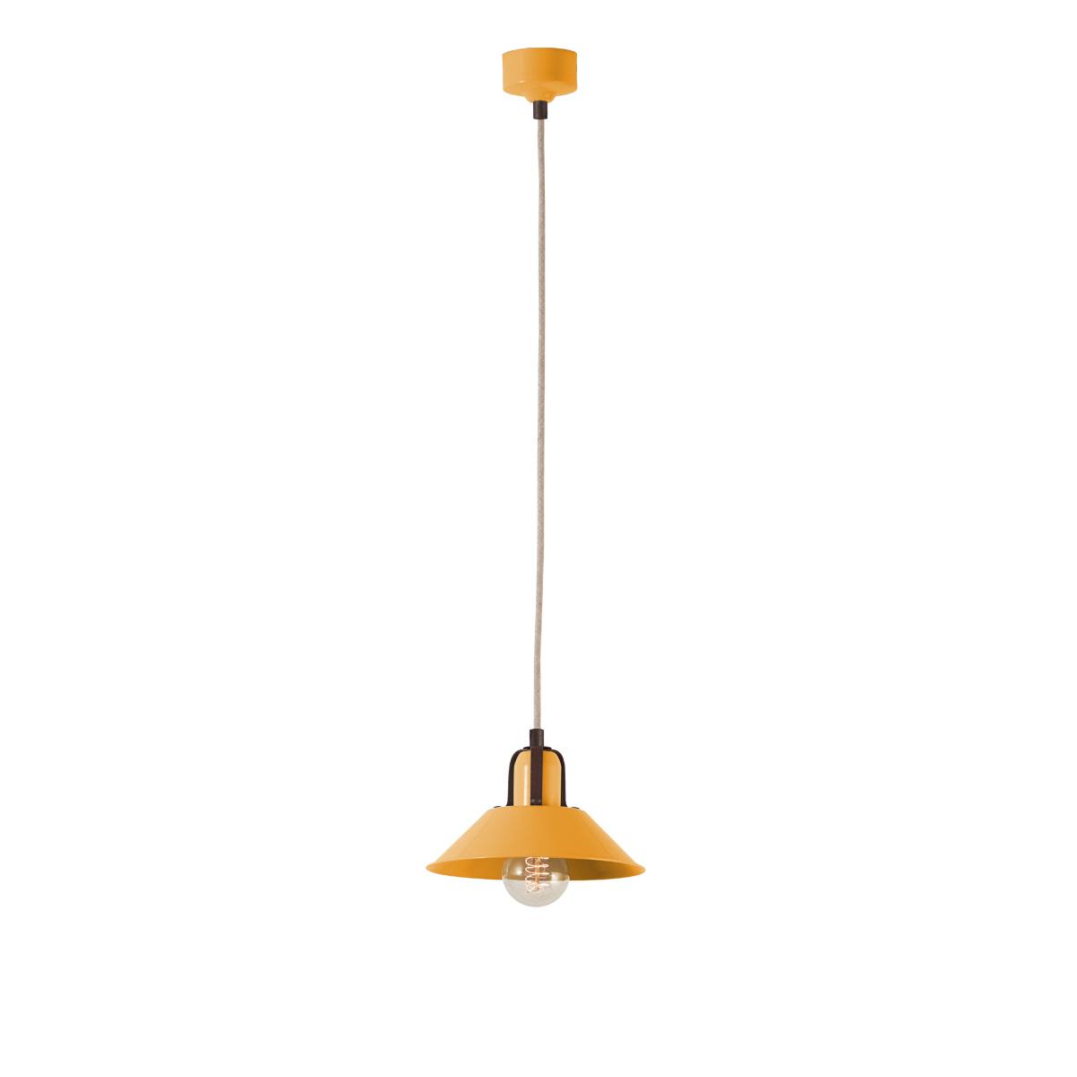 Χειροποίητο φωτιστικό πορτοκαλοκίτρινο ΜΗΛΟΣ melon yellow handmade pendant lamp