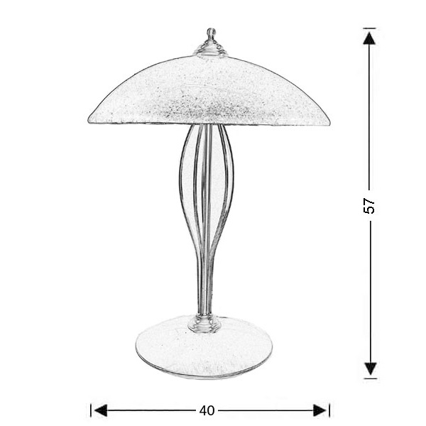 Επιτραπέζια λάμπα με κρύσταλλo Murano | ΝΥΜΦΑΙΟ - Σχέδιο - Επιτραπέζια λάμπα με κρύσταλλo Murano | ΝΥΜΦΑΙΟ