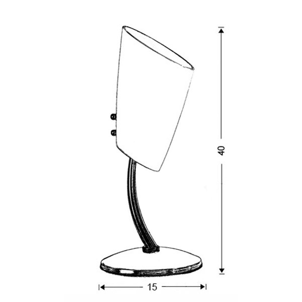 Modern Murano table lamps | DONNA - Drawing - Modern Murano table lamps | DONNA