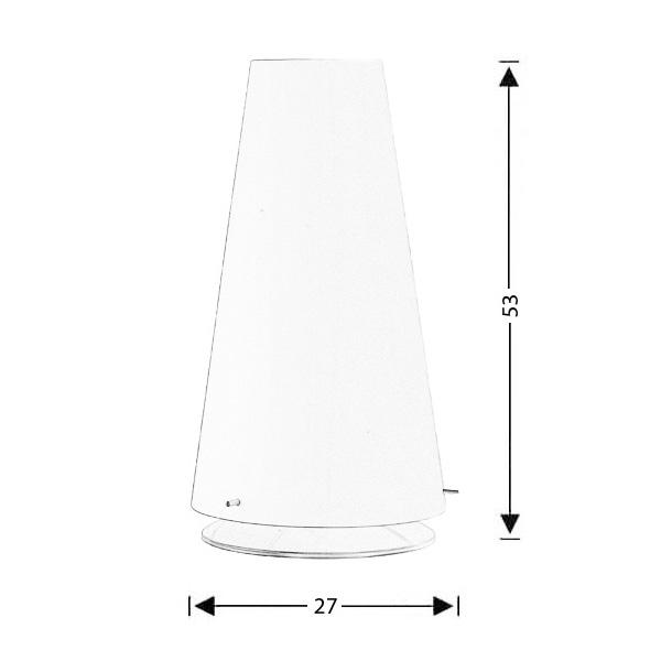 Φωτιστικό επιτραπέζιο Μουράνο | ΚΩΝΟΙ - Σχέδιο - Φωτιστικό επιτραπέζιο Μουράνο | ΚΩΝΟΙ