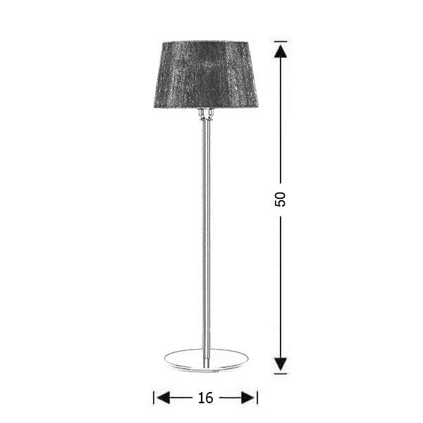 Modern table lamp small | ORGANZA - Drawing - Modern table lamp small | ORGANZA