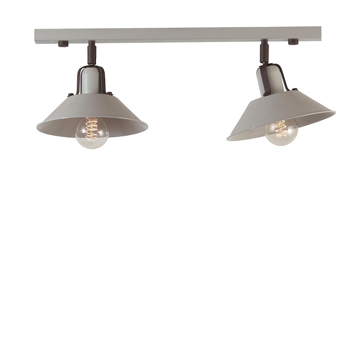 2φωτη ράγα οροφής ΜΗΛΟΣ 2-bulb rail lighting