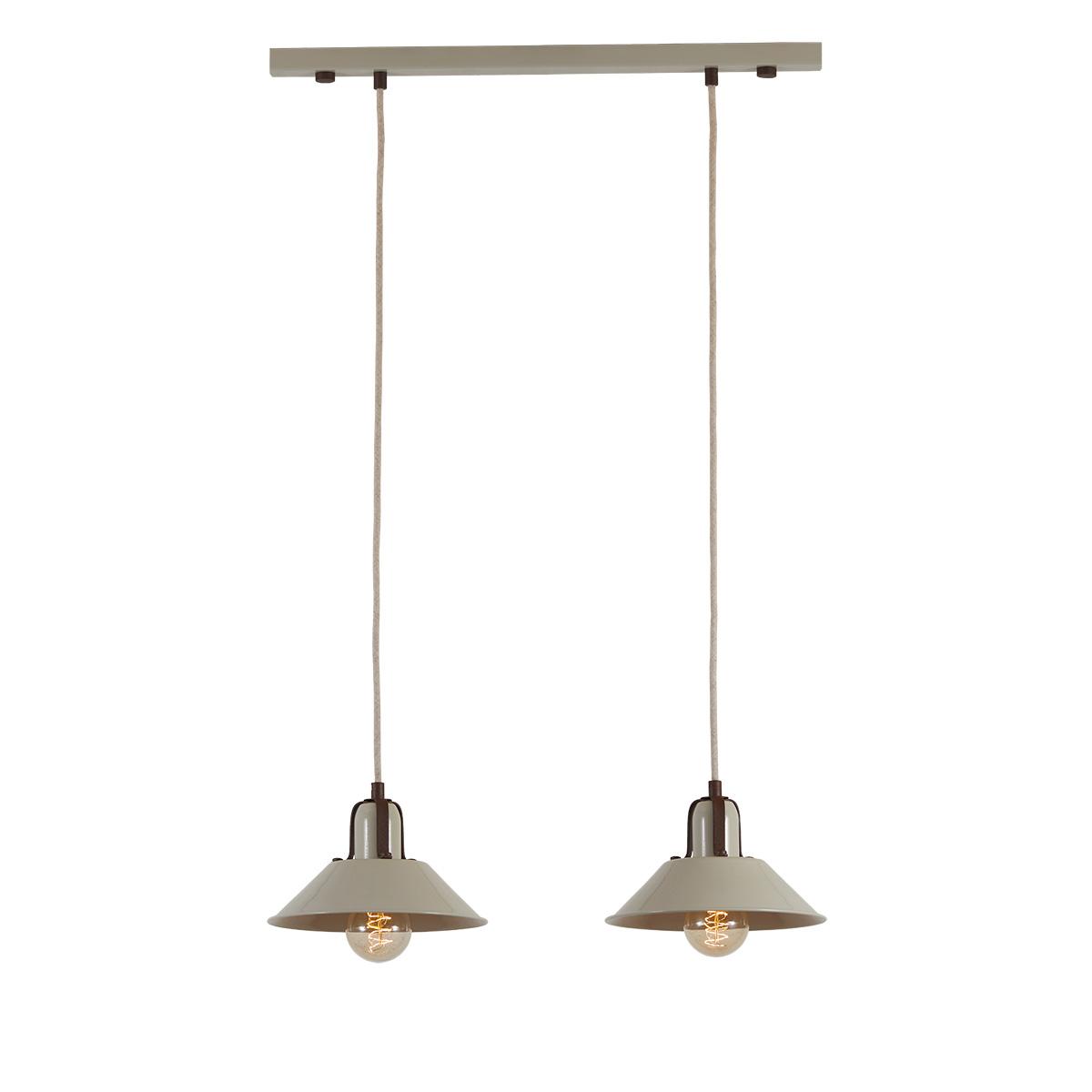 Ρετρό κρεμαστό φωτιστικό σε ράγα ΜΗΛΟΣ 2-bulb pendant rail lighting
