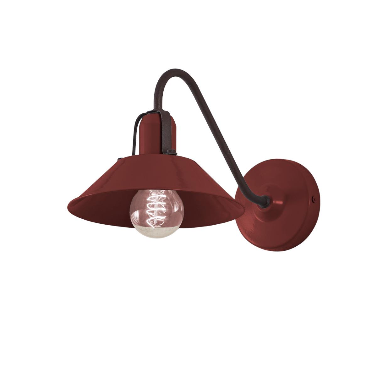 Ρετρό επιτοίχιο φωτιστικό μπορντό ΜΗΛΟΣ bordeaux retro wall lamp